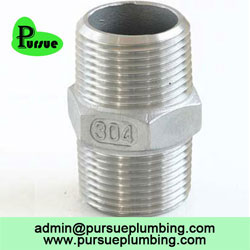 stainless steel hex nipple BSP