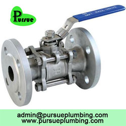 stainless steel 3 piece flange ball valve