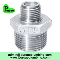stainless steel male thread reducing nipple supplier