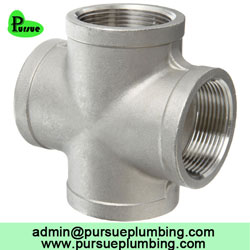 female threaded cross pipe fitting supplier