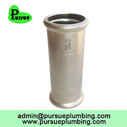 Slip coupling high quality plumbing M profile inox pipe press fittings