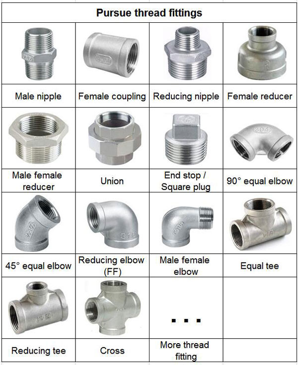 stainless steel male to female reducer