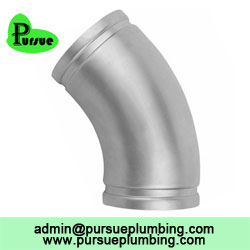45 degree grooved elbow