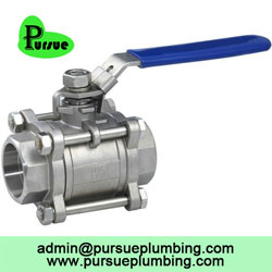 stainless steel 3 piece ball valve