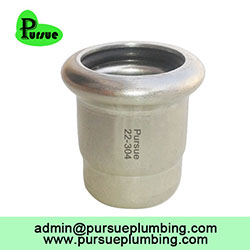 Press end stop stainless steel 304 316 pipe fitting one end closed end cap